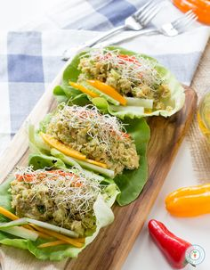 Avocado Chickpea Lettuce Wraps- Vegan + Gluten-free and only 5 ingredients! | glutenfreeveganpantry.com