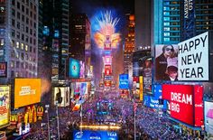 New Years Eve Times Square In New York January