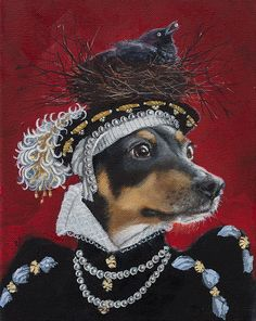 Jack Russell Rat Terrier, Anthropomorphic Pirate by Clair Hartmann Dog Paintings, Original Paintings, Costume Chien, Arte Dachshund, Dog Artwork, Photo Portrait, Rat Terriers, Pet Costumes, Dog Portraits