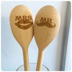 wooden spoon laser    Laser Engraved Wooden Spoons - PERSONALISED Laser Engraved Wooden ...