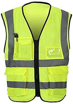 2 NEON ORANGE REFLECTIVE ADULT VEST safety clothing UNBRANDED security