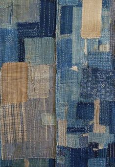 Wish I had knew more about this bit of sashiko & patchwork. It is the inside or the outside of. . .?