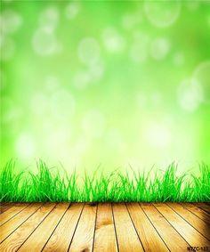 Amazon.com : Backgrounds For Photo Studio Green Background Wood Floor Grass For Kids Background Backdrop : Camera & Photo