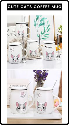 Now here we have the perfect coffee mug for cat lovers who enjoys a fine cup of coffee. This specially designed coffee mug is perfect for you to enjoy your coffee in style and get rid of your old dull coffee mugs. These coffee mugs are only for coffee enthusiast who want their coffee to be perfect. And for a perfect coffee you need the perfect mugs. Visit our website now to buy this mug or find more similar ideas. #cute #cat #cutecat #coffee #coffeemug #mug #cutemugs #cutecoffeemugs #mugs