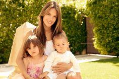 Alessandra Ambrosio with Anja and Noah