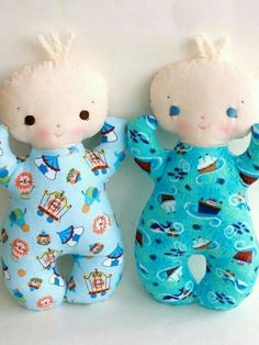 Butter bean PDF pattern from Bit of Whimsy Dolls.