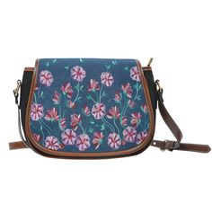 http://mellowstreasures.com/products/garden-denim-canvas-and-leather-saddle-bag?utm_campaign=social_autopilot&utm_source=pin&utm_medium=pin Recent addition to www.MellowsTreasures.com   Always Free Shipping Anywhere!