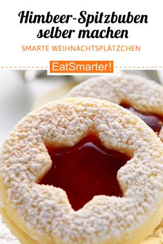 Himbeer-Spitzbuben - Cookie recipe for Christmas: raspberry goats – smarter – calories: 89 kcal – time: 30 min. Smart Cookies Recipe, Chip Cookie Recipe, Easy Cookie Recipes, Baking Recipes, Snack Recipes, Crispy Chocolate Chip Cookies, Chocolate Cookie Recipes, Chocolate Chip Oatmeal, Cookies And Cream Cake