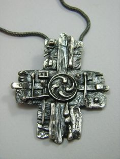 TAO Pectoral Cross Four Comets Made in by MirekGomolkaJewelry, $198.56