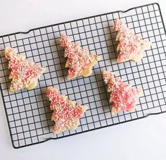 Baked by Billie in Raleigh, North Carolina is your one stop shop for cakes, donuts, cupcakes, and cookies! How adorable are these sugar cookies shaped like Christmas trees with pink and white sprinkles. these holiday cookies would be perfect for a winter wedding!