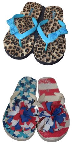 Justice Girls Flip Flops Lot of 2 Pairs Animal Print American Size 2 gm.  ToysandClothesShop.com · Shoes 25ebf58e61a5