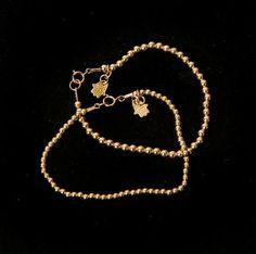 Gold Hamsa Bracelet , Rosary Style Bracelet #jewelry #bracelet @EtsyMktgTool http://etsy.me/2y0jaj4