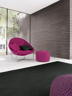If you're going minimal then give it a kick here + there My Furniture, Furniture Design, Outdoor Furniture, Upholstered Swivel Chairs, Modern Contemporary Homes, Interior Design Inspiration, Home Living Room, Paola Lenti, Interior Architecture