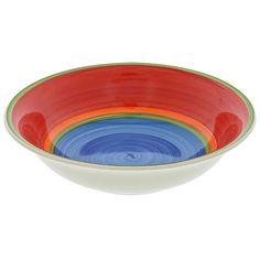 Mambo Blue-Center Ceramic Bowls, 7.5 in.