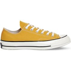 CONVERSE All-Star Ox '70 canvas trainers (€70) ❤ liked on Polyvore featuring shoes, sneakers, trainers, sunflower black, converse trainers, black sneakers, black rubber sole shoes, black shoes and kohl shoes