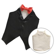 Guinea Pig Costume (Black Tuxedo with Base Tank Top) [M Size]