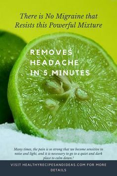 There is No Migraine that Resists this Powerful Mixture – It Removes the Headache in 5 Minutes