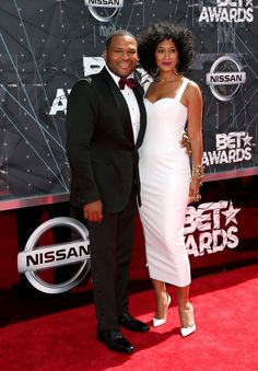 2c0245fe0a76 Anthony Anderson and Tracee Ellis Ross Photos - Celebs Arrive at the 2015 BET  Awards -