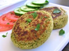 Falafel - really nice flavor. Added 1 tbsp lemon juice. Make patties on the thinner side and I may not have added enough flour as they were a tiny bit sticky.