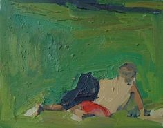Figure in Central Park 12 x 15 oil on canvas 2014