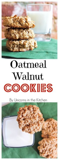 Oatmeal Walnut Cookies are chunky and tasty! Have them with a glass of milk to taste all the happiness! Perfect for any time of the year!