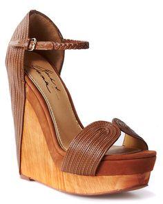 Beautiful modern wedge. Mark + James 'Roana' Leather Wedge Sandal