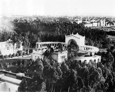 The Spreckels Organ Pavilion, Balboa Park, San Diego, CA, January 17, 1930. It's the world's largest pipe organ in a fully outdoor venue. Constructed for the 1915 Panama-California Exposition, it is located at the corner of President's Way and Pan American Road East in the park.