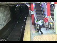 CCTV: Woman flips scooter on escalator  A woman in Boston, Massachusetts, flipped her electric mobility scooter after driving it up an escalator, last week. The Massachusetts Bay Transport Authority put the CCTV video on their YouTube channel showing the woman, said to be in her fifties, driving her scooter onto the escalator, holding onto the hand rail and then flipping backwards with her scooter falling onto her.