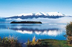 Mountains and lake of Lake Taupo Taupo, New Zealand
