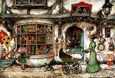Toy Shop - Anton Pieck, Dutch painter, artist and graphic artist.