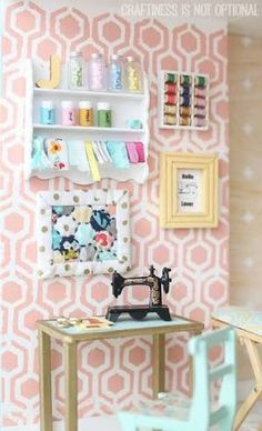 Image result for doll house sewing room