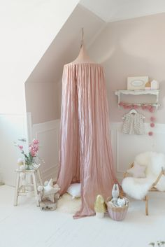 Blush pink canopy for baby girl nursery or play room floral nursery decor д Pastel Nursery, Baby Girl Nursery Decor, Floral Nursery, Nursery Ideas, Boho Room, Pink Room, Kids Room Design, Little Girl Rooms, Room Themes