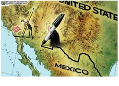 Michael Ramirez (2015-05-28) USA- Mexico: Finally, a little sanity returns to the world and SCOTUS gets one right. From my 2015 Pulitzer entry... Redrawing the border... www.michaelpramirez.com Twitter: www.twitter.com/Ramireztoons Like me on Facebook at:www.facebook.com/Michael-Ramirez-Political-Cartoonist-92009530531/?fref=ts New Ramirez book:www.amazon.com/Give-Me-Liberty-Obamacare/dp/150111025X