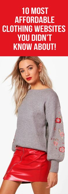 Looking for fashionable, affordable clothing websites to perk up your outfits? Below is a list of 10 reasonably priced stores. These sites are perfect for college students and anyone on a budget. Take a look at our list and thank us later.  fashion, fall fashion, affordable, budget, clothing, featured. #websites #trend #studentbudget #clothes #cheap #stores