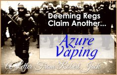 Read Robert Jack's decision to exit the vape industry. See the damage first hand…