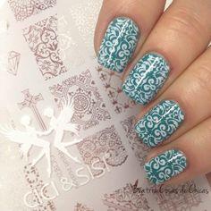 CICI&SISI nail art acrylic stamping plate Wedding Season 02 decent and elegant.