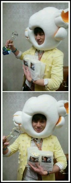 K.Will dresses up as popcorn to celebrate his 'Music Bank' win