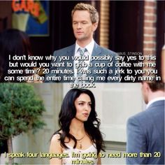 Barney and Nora How Met Your Mother, Aj Cook, Ted Mosby, Mothers Friend, Yellow Umbrella, Patrick Harris, Celebration Quotes, Himym, Tv Show Quotes