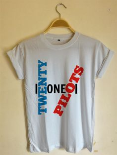 Twenty One Pilots Logo Blue Red T-Shirt