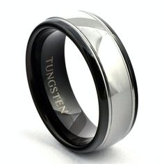 b60878df95be 21 Best Black Tungsten Wedding Bands images