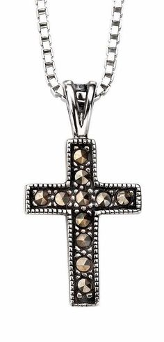 My-jewellery 925 Silver Marcasite cross pendant necklace 20' - 51' ** Review more details @ http://www.amazon.com/gp/product/B01BRU4I72/?tag=finejewelry4u.com-20&pde=140716235110