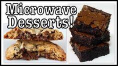 DIY BROWNIE AND COOKIE IN THE MICROWAVE
