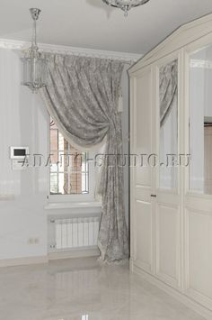 Home Decor Shelves, Home Office Decor, Window Coverings, Window Treatments, Curtains For Arched Windows, Curtain Headings, Beautiful Curtains, Window Dressings, Curtain Designs