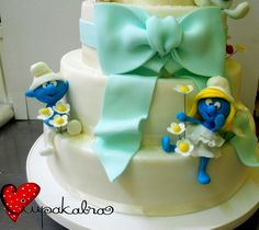 smurf wedding cake,ciupakabra cakes