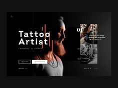 Tatoo Artist - Website Concept by Netflayo on Dribbble art tatoo - Tattoos And Body Art Body Art Tattoos, Tatoos, Tattoo Website, Tattoo Posters, Full Back Tattoos, Shopping Websites, Web Design Inspiration, Print Artist, Tattoo Shop