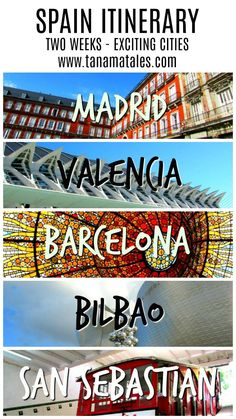 Places to Visit in Spain - My two weeks itinerary and travel guide will take you on a  whirlwind trip through a country full of exciting cities, gorgeous beaches and finger licking good food.  Find out detailed tips for visiting Madrid, Barcelona, Valencia, Bilbao and San Sebastian. No excuses! Get prepared for Spain.