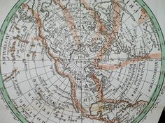 Show Map On North Pole | Nordpol North Pole Weltkarte Map of the World ca 1800