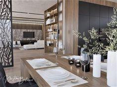 """Páči sa mi to: 20, komentáre: 0 – Návrh a dizajn interiéru (@kristina_bedecova) na Instagrame: """"Návrh nádherného denného priestoru ešte krajšej vily. #interierovydizajn #peknebyvanie…"""" Living Room Kitchen, Divider, Furniture, Instagram, Home Decor, Decoration Home, Room Decor, Kitchen Living, Home Furnishings"""