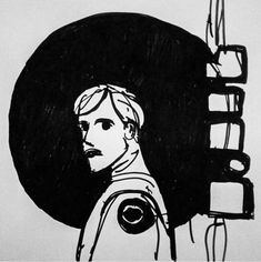 "#draweveryday #everyday "" into the dark #moon "" #pen on #paper from my #sciencefiction #3zuniverse www.3zuni.com #scifi #retro #space #betrayal #realisation #truth"