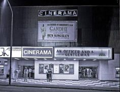 """The Cinerama.  My first movie there was """"Earthquake"""" and the seats were designed to shake."""